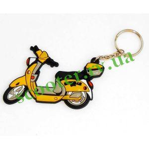 EMELE Брелок силиконовый (скутер) Желтый
