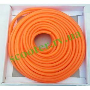 Шланг топливный 1метр Ø4mm (cиликоновый оранжевый) ПРОЗРАЧНЫЙ