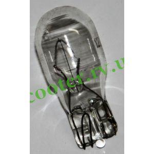 Лампа поворотов (белая) 12v 10w Бесцокольная (T15)