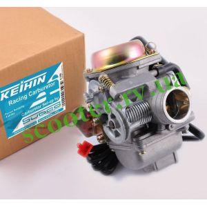 """152QMI GY6 125сс Карбюратор """"GP-KEIHIN"""" с электроклапаном"""