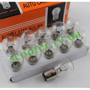 Лампа стопа (белая) 12v 21/5w цоколь, двухконтактная (S25)