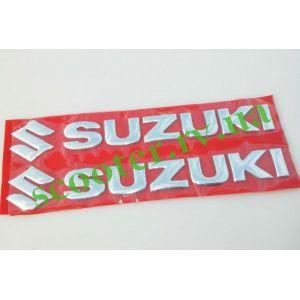SUZUKI Наклейка объемная (20х6см хром) 2шт