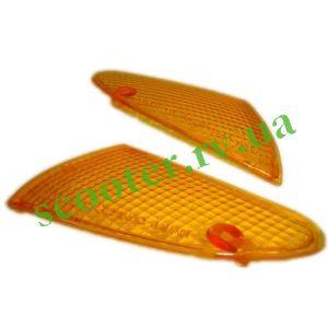 LETS 2 Стекла передних поворотов (желтые, пара) KMC