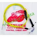 DIO ZX TACT Трос газа раздвоенный Yellow