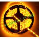 Диодная подсветка 450мм (60 диодов / 1 метр) Желтая герметичная (SMD 3528)