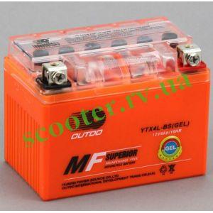 4 А/ч 12V Аккумулятор гелевый (YTX4L-BS) OUTDO