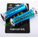 Ручки руля MONSTER ENERGY (алюминиевые, синие)