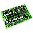 MONSTER ENERGY Наклейки набор (17х26см) 7051