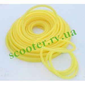 Шланг топливный 1 метр Ø4mm (силиконовый, желтый) ПРОЗРАЧНЫЙ