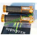 Ручки руля, алюминий с отбойником (желтые Yamaha)