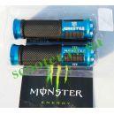Ручки руля, алюминий с отбойником (синие monster)