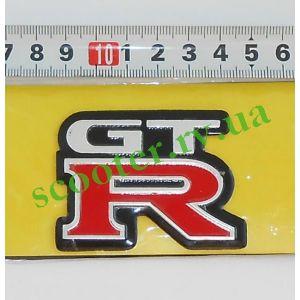 GT-R наклейка - шильдик (6x4см, алюминий)