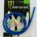 """Шланг топливный + фильтр (синий) 1 метр, Ø4mm """"MONSTER ENERGY"""""""