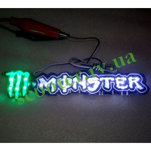 Светодиодная наклейка силиконовая MONSTER ENERGY