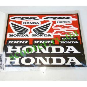 Наклейки набор HONDA 1000 (22см * 17см) 12шт 5984