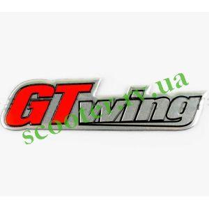 GT WING Наклейка шильдик (хром)