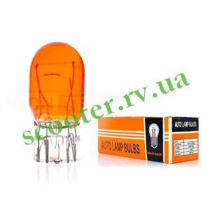 Лампа стопа (безцокольная) 12v 21/5w двухконтактная T20 Orange
