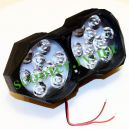 LED Фара двойная 18 диодов Черная NSK