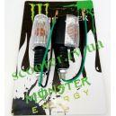 Повороты универсальные (белое стекло, пара) Monster Energy