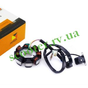 GY6-50 139QMB Генератор (6+2 катушек 5 проводов) HORZA